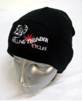 Rolling Thunder Embroidered Knit Hat