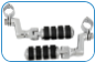 "ISO-Pegs (Large) with Offset & 1-1/4"" Magnum Quick Clamps (pr)"