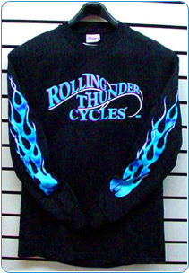 Rolling Thunder Long Sleeve Cold Flame T-Shirt